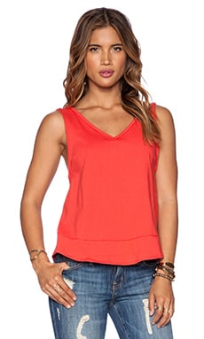 Free People Toying Around Tank in Red Orange