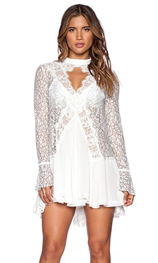 Free People Tell Tale Lace Tunic in Ivory