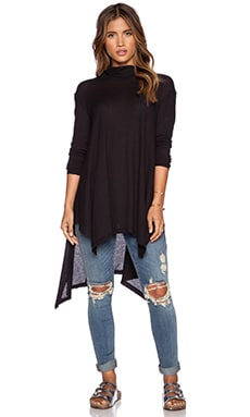 Free People Wonder Woman Mock Neck in Black