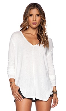 Free People Solid Sahara Top in Ivory
