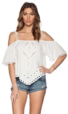 Free People Dahlia Top in Ivory