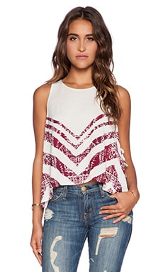 Free People Touch of Love Tank in Ivory Combo