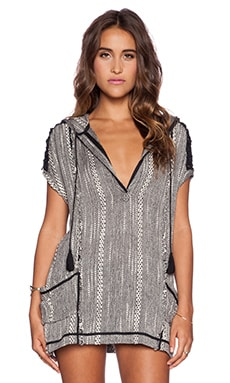 Free People Forever Yours Tunic in Black Combo