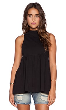 Free People Retro Mock Neck Tank in Black