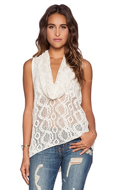 Free People Just Like That Cowl Tank in Ivory