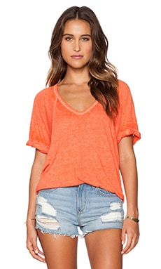 Free People Free Falling Tee in Blood Orange