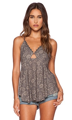 Free People Lost in Suspense Tank in Smoke Combo
