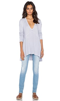 Free People Sunset Park Top in Light Perri