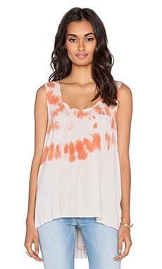 Free People Cruz Washed Cape Tank in Pink Sand Combo