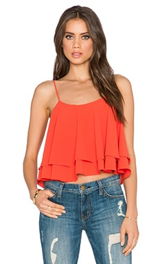 Free People Tropical Wave Crop Top in Paprika