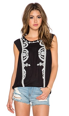 Free People Dos Segundos Top en Noir