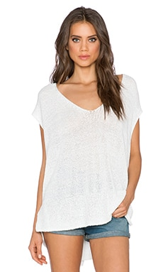 Free People Easy Tea Sweater Top in White