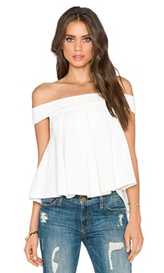 Free People Priscilla Top in Ivory