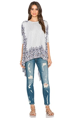 Free People Pick Me Up Tee in Heather Grey