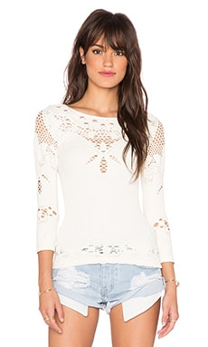 Free People Angelina Top in Ivory