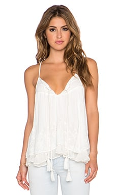 Free People Rayon Gauze Dandi Darling Top in Ivory