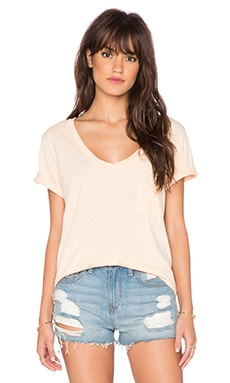 Free People 757 Tee in Sunkist