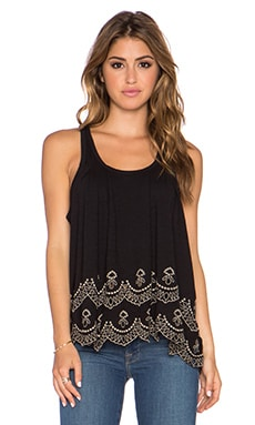 Free People Toosaloosa Slub Attina Tank in Black