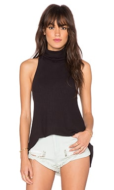 Free People Drippy Rib New City Tank in Black