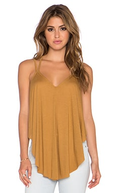 Free People Fantasy Jersey Cosmic Triangle Top in Golden Yellow
