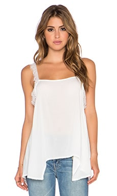 Free People Dobby Dot & Lace Delicate Sides Cami in Ivory
