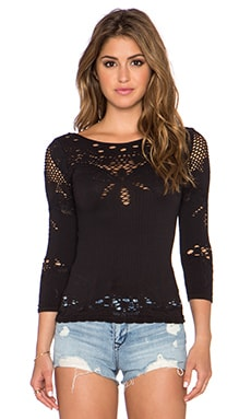 Free People Angelina Top in Black