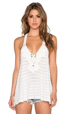Free People Washed Ashore Embellished Cami in Ivory