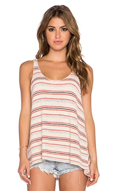 Free People Stripe Sailor Tank in Ivory Combo