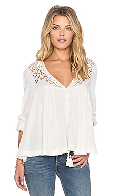 Free People Doin' It Right Blouse en Ivoire