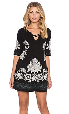 Free People Talia Top in Black Combo