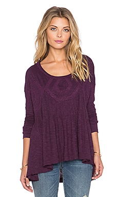 Free People New Hope Babydoll Top in African Violet