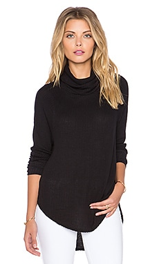 Free People Kristina Long Sleeve Thermal in Black