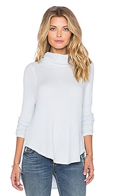 Free People Kristina Long Sleeve Thermal in Sky Blue