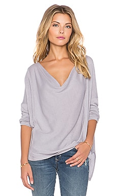 Free People Lucky Day Wrap Tee in Ash Purple