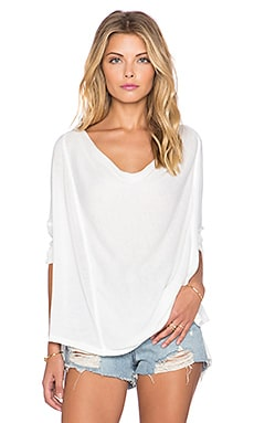 Free People Lucky Day Wrap Tee in White