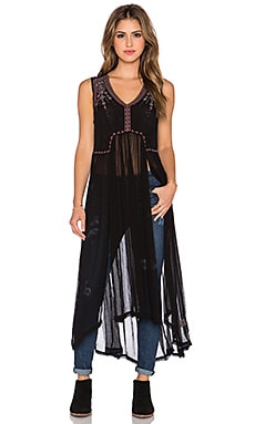 Free People See You Smile Top in Black Combo