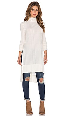 Free People Espresso Rib Top* in Linen Heather