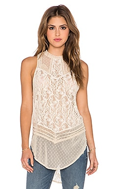 Free People Modern Mesh Tank* in Tea