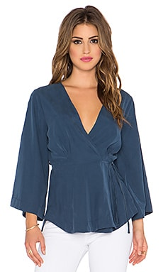 Free People Grand Piano Wrap Top in Deep Saphire