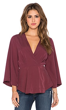 Free People Grand Piano Wrap Top* in Mulberry