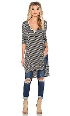 Free People Gwen Henley in Black & Tea
