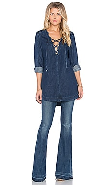 Free People Neapolitan Dreams Top in Blue Sky