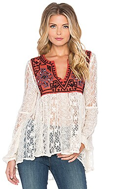 Free People Casablanca Tunic in Ivory Combo