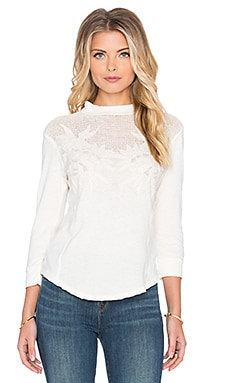 Free People Primrose Tee in Cream