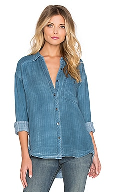 Free People Turn It Around Top in Blue Combo