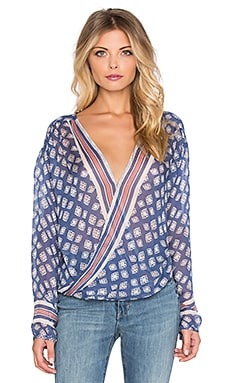 Free People Before Dawn Top in Sapphire Combo