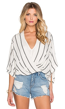 Free People Sleepy Time Top in Pearl Combo