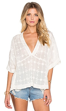 Free People Amber Skies Top in Ivory