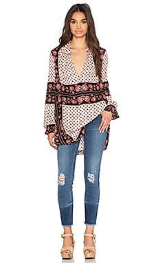 Free People Changing Times Tunic in Tea Combo