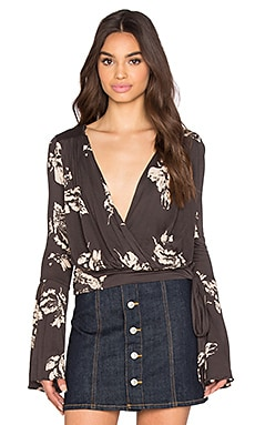 Free People Fiona Top in Coal Combo